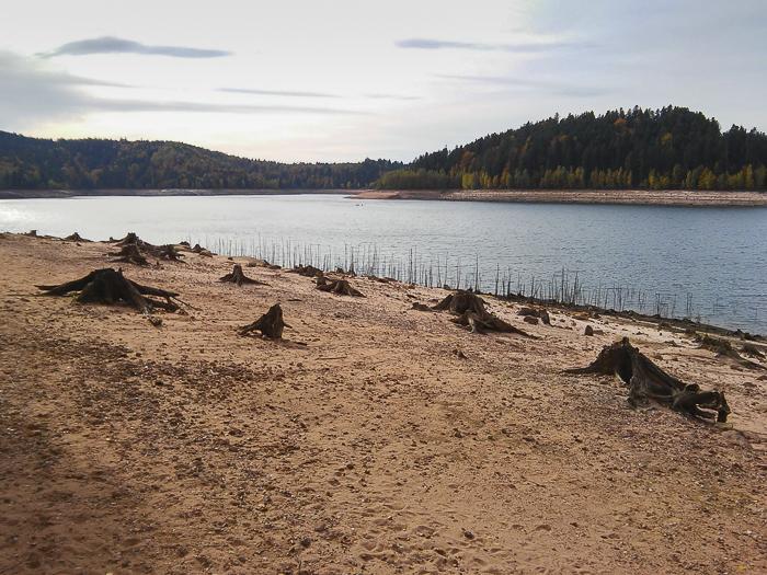 Les abords du lac de Pierre-Percée