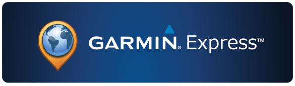 Ecran d'accueil Garmin Express