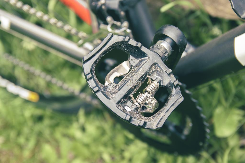 La face libre de la pédale Shimano PD-A530