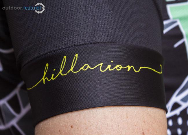 Logo Hillarion sur le revers de la manche