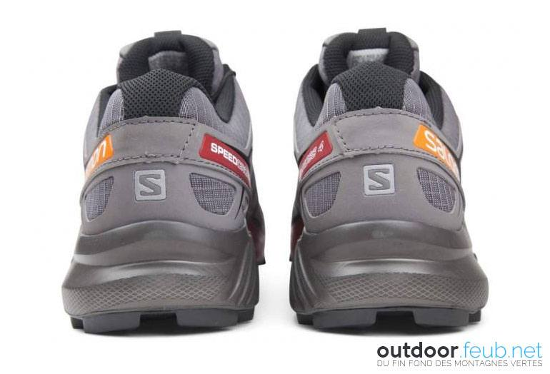 The back of the Salomon Speedcross 4 CS