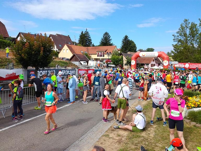 ligne de départ du semi-marathon