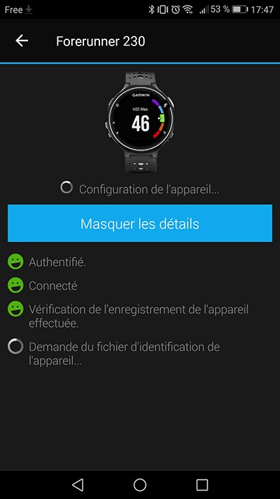 Garmin Connect - Réactivation des services