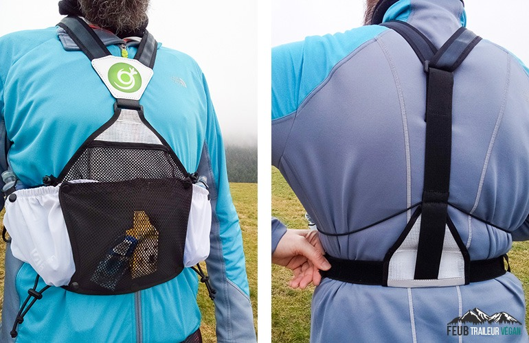 Le sac de trail Can-Guru en position