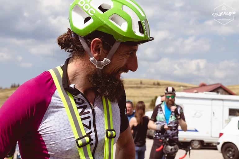 Arrivée grand sourire au Hohneck pour Stéphane Brogniart après 480 km