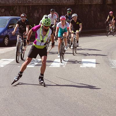 Le Tour des Vosges en ski-roues de Stéphane Brogniart, première étape du projet ETARCOS
