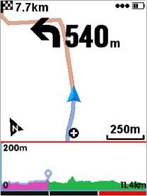 profil altimétrique iGPSport iGS618
