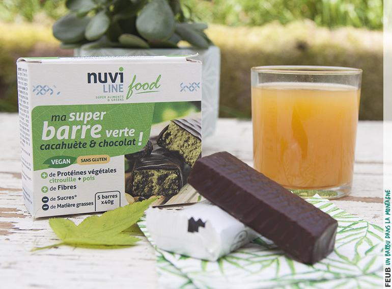 Ma super barre verte cacahuète et chocolat