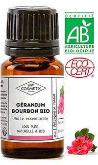 Huile essentielle bio Géranium Bourbon