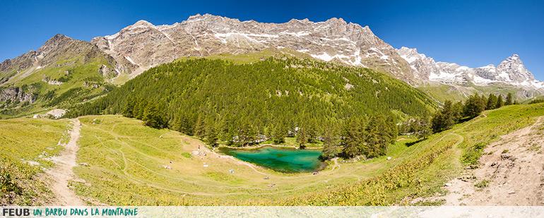 Trail running - Lago Blu à Cervinia - Italie