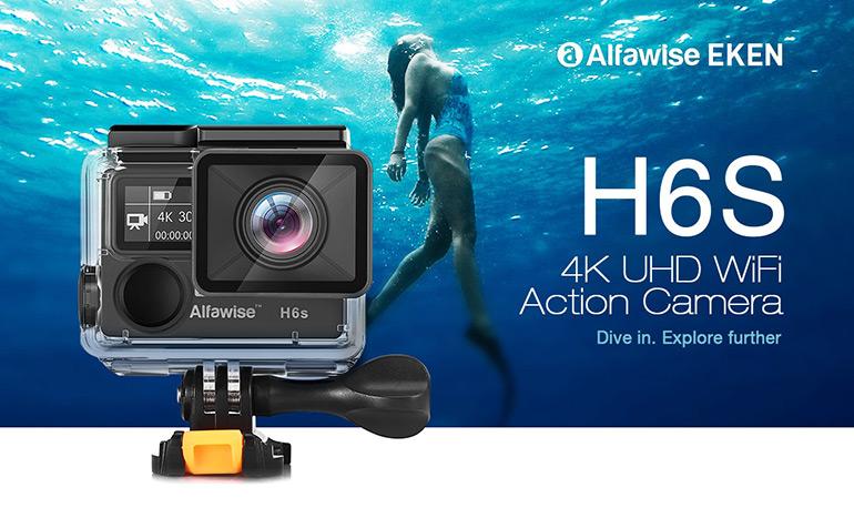 caméra d'action stabilisée Alfawise EKEN H6S