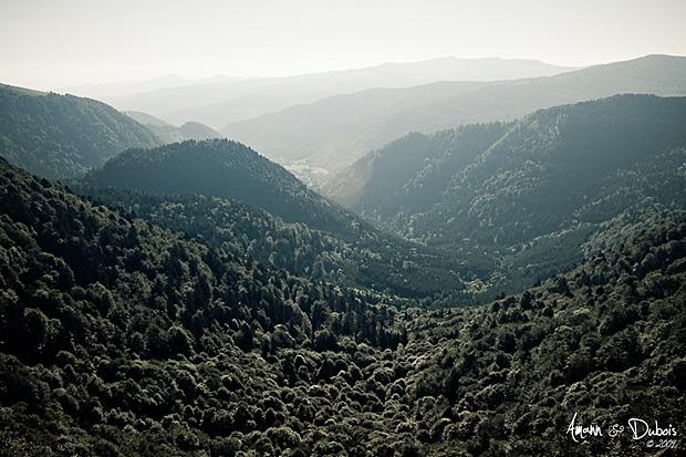 Mittlach au fond dans la vallée