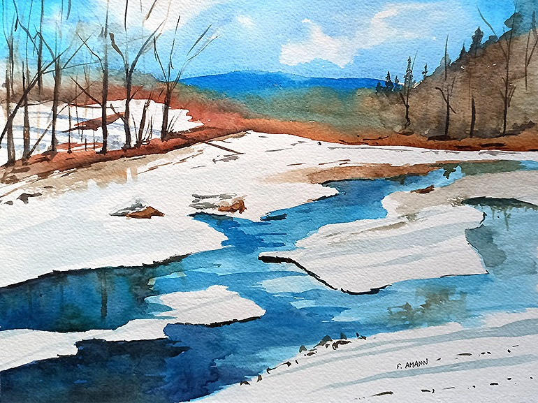 A quiet winter river